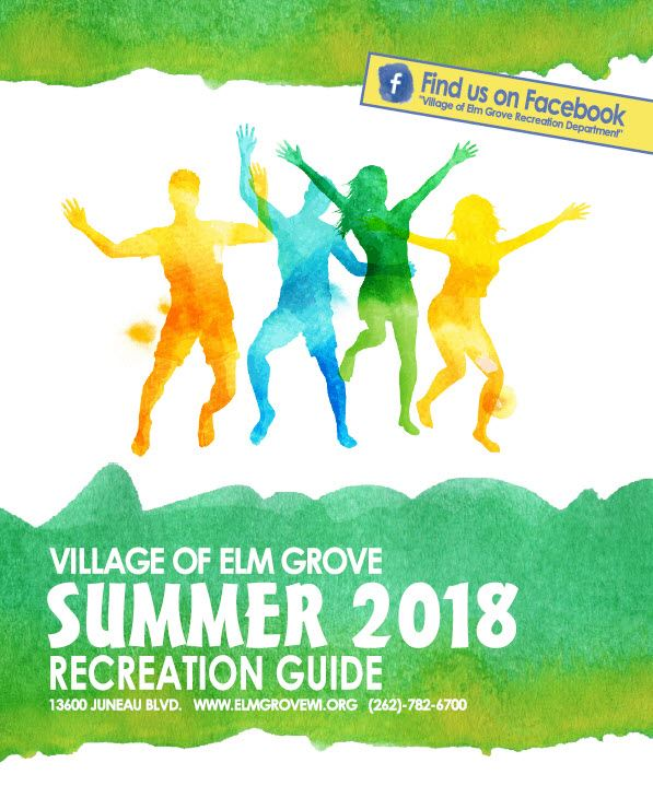 2018 Rec Guide Cover, water color, green and yellow